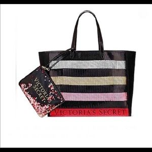 🎉NWT-VICTORIA'S SECRET BLING SEQUIN TOTE BUNDLE